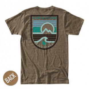 Camiseta Hippytree: Seastripe Tee (Heather Brown) Hippytree - 1