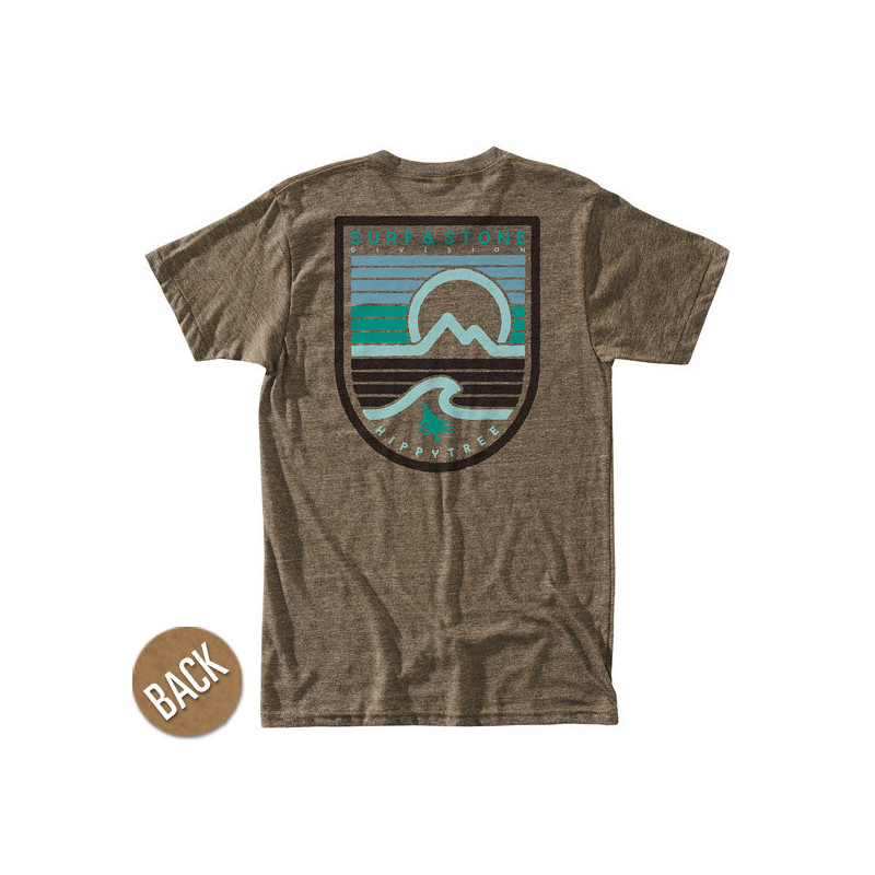 Camiseta Hippytree: Seastripe Tee (Heather Brown)