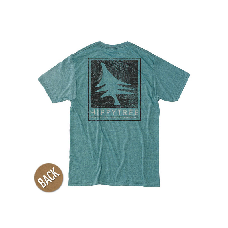 Camiseta Hippytree: Woodgrain Tee (Heather Teal)