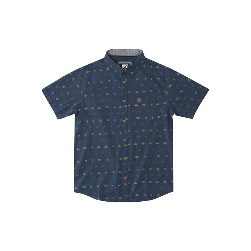 Camisa Hippytree: Settings Woven (Navy)