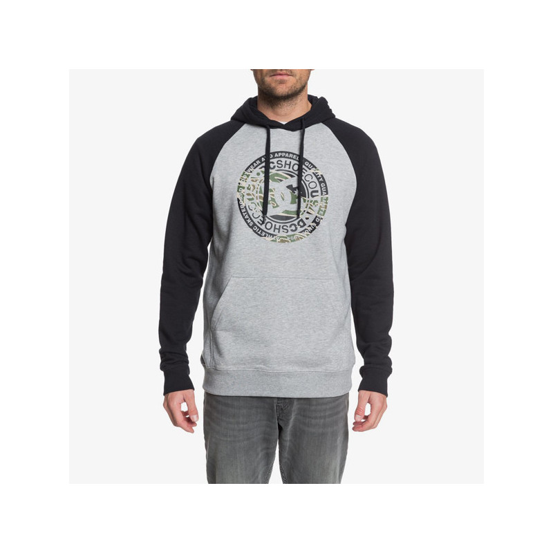 Sudadera DC Shoes: CIRCLE STAR PH (GREY HEA BLK)
