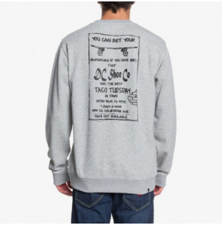 Sudadera DC Shoes: TACO TUESDAY CR (GREY HEATHER) DC Shoes - 1
