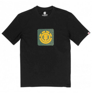 Camiseta Element: LEOPARD BLOCK ICON S (FLINT BLACK)