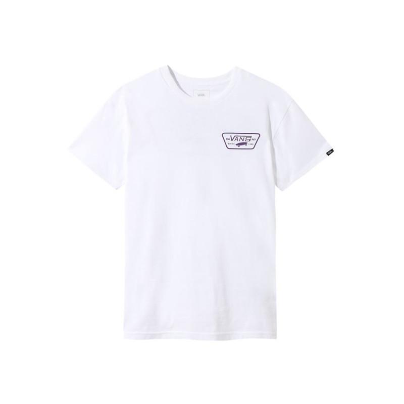 Camiseta Vans: MN FULL PATCH BACK S (WHITE HELIOTROP)
