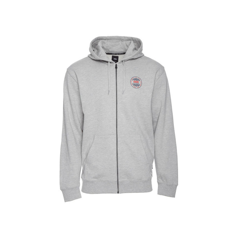 Sudadera Vans: MN OG CHECKER ZIP (CEMENT HEATHER)