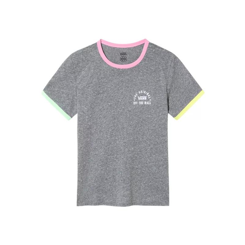 Camiseta Vans: WM RALLY BELL (GREY HEATHER FU)