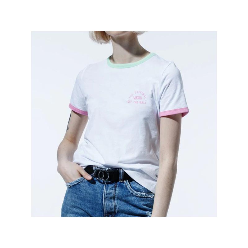 Camiseta Vans: WM RALLY BELL (WHITE GREEN ASH)