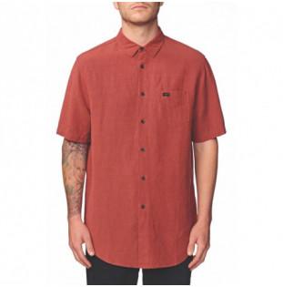 Camisa Globe: TIDAL SS SHIRT (BRICK RED)