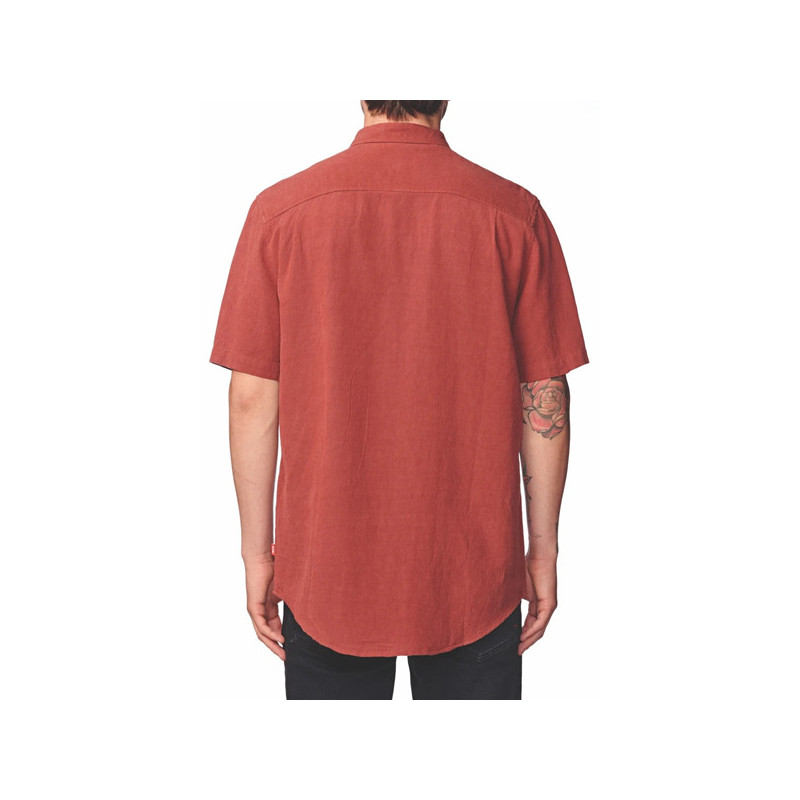 Camisa Globe: TIDAL SS SHIRT (BRICK RED)