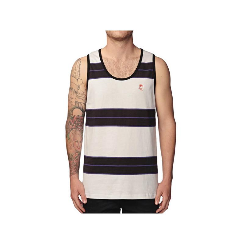 Camiseta Globe: MOONSHINE STRIPE SINGLET (PUMICE)