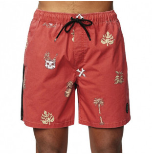 Bañador Globe: HALF CUT POOLSHORT (BRICK RED) Globe - 1
