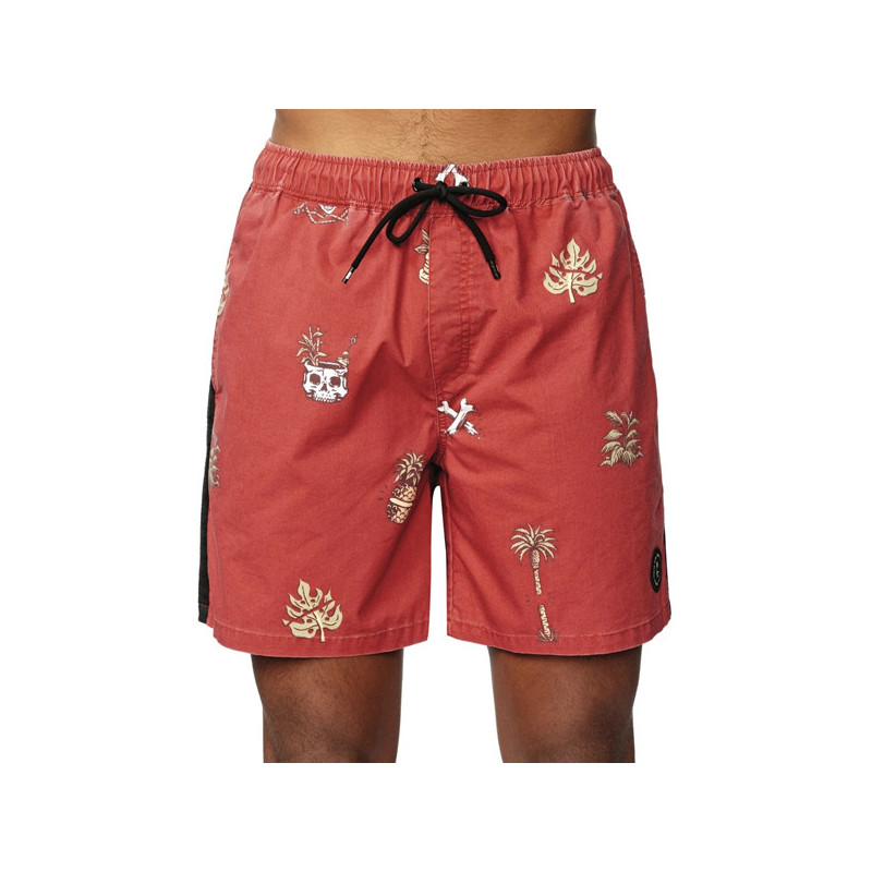 Bañador Globe: HALF CUT POOLSHORT (BRICK RED)