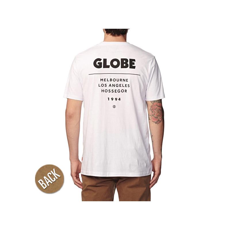Camiseta Globe: ZONE TEE (WHITE)
