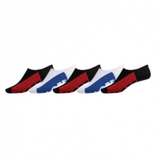 Calcetines Globe: INVISIBLE SOCK 5 PACK (BLACK WHITE)