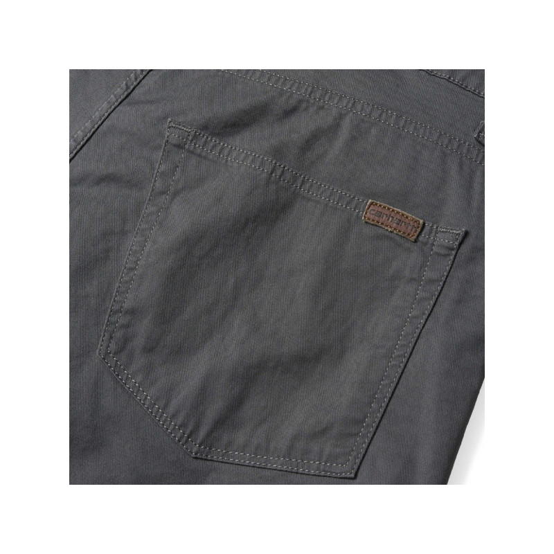 Bermuda Carhartt: SWELL SHORT (BLACKSMITH RINSED)