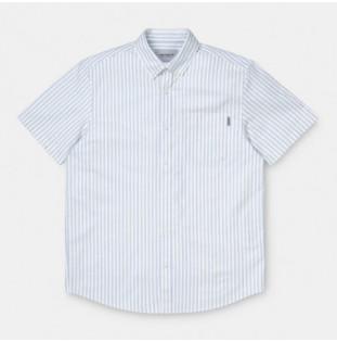 Camisa Carhartt: SS SIMON SHIRT (SIMON STRIPE BLEACH)