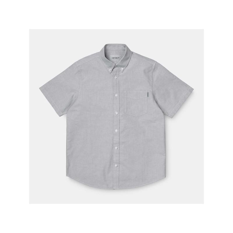 Camisa Carhartt: SS BUTTON DOWN POCKET SHIRT (SHIVER)