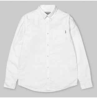 Camisa Carhartt: LS BUTTON DOWN POCKET SHIRT (WHITE)