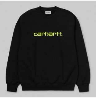 Sudadera Carhartt: CARHARTT SWEAT (BLACK LIME)