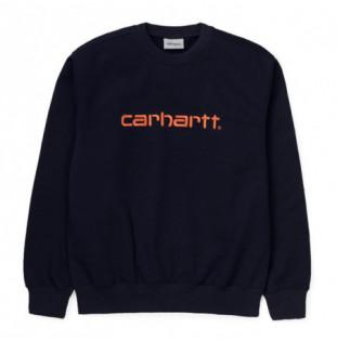Sudadera Carhartt: CARHARTT SWEAT (DARK NAVY CLOCKWORK)