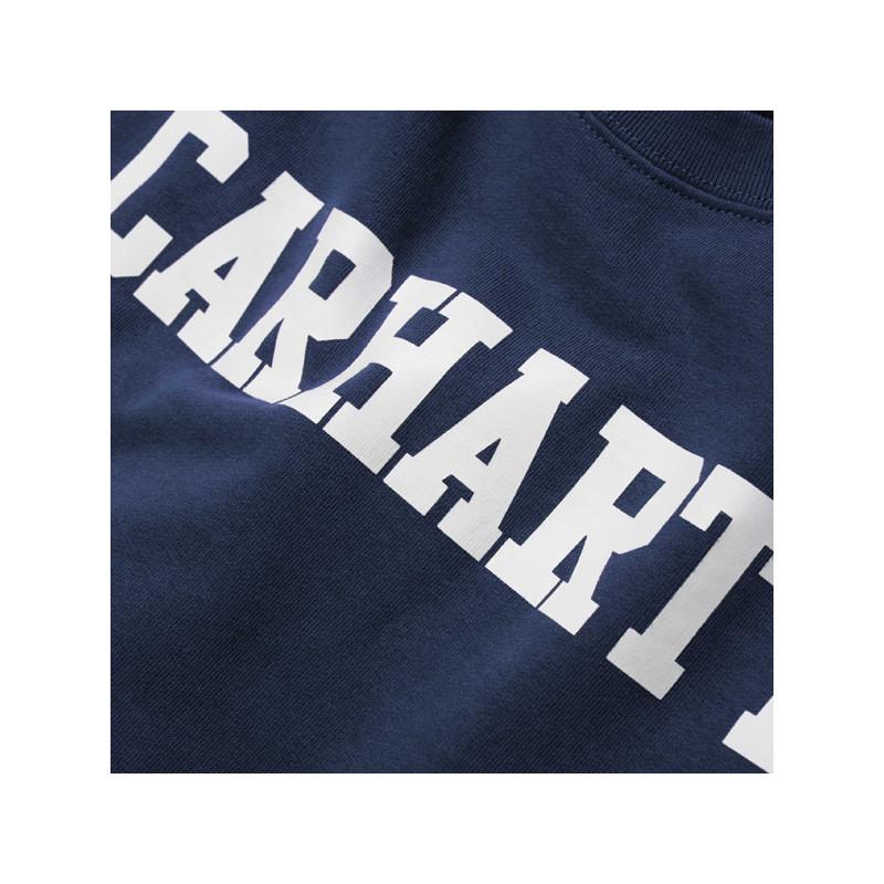 Sudadera Carhartt: COLLEGE SWEAT (BLUE WHITE)