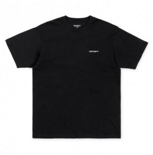Camiseta Carhartt: SS SCRIPT EMBROIDERY T SHIRT (BLACK WHITE)