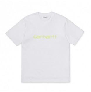 Camiseta Carhartt: SS SCRIPT T SHIRT (WHITE LIME)