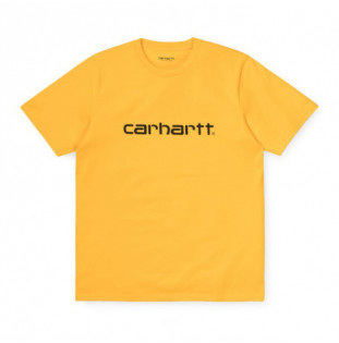 Camiseta Carhartt: SS SCRIPT T SHIRT (SUNFLOWER BLACK)