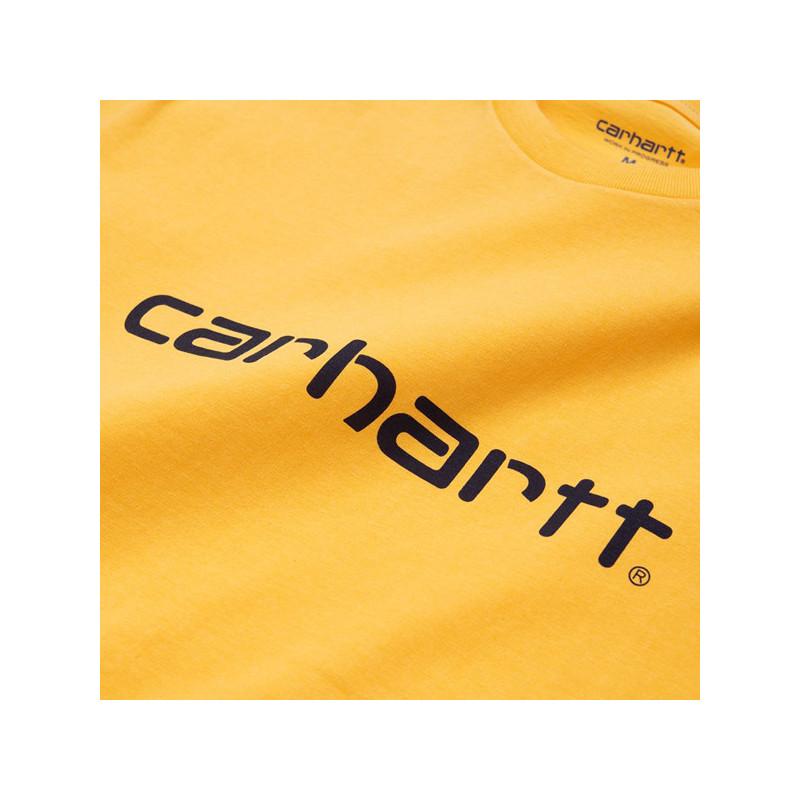 Camiseta Carhartt: SS SCRIPT T SHIRT (SUNFLOWER BLACK)