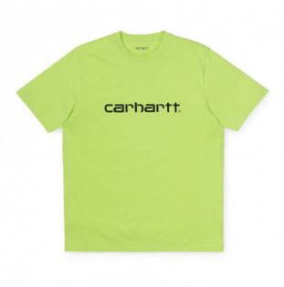 Camiseta Carhartt: SS SCRIPT T SHIRT (LIME BLACK) Carhartt - 1