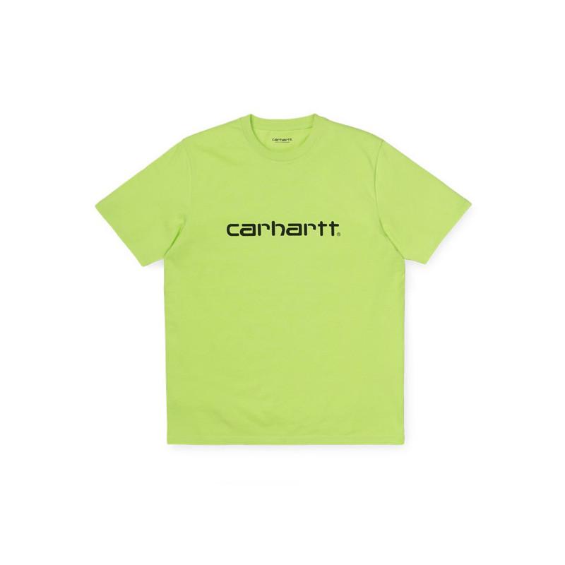 Camiseta Carhartt: SS SCRIPT T SHIRT (LIME BLACK)