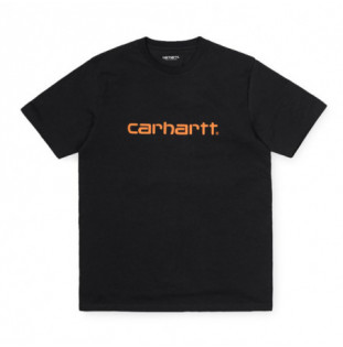 Camiseta Carhartt: SS SCRIPT T SHIRT (DARK NAVY POP ORANGE)