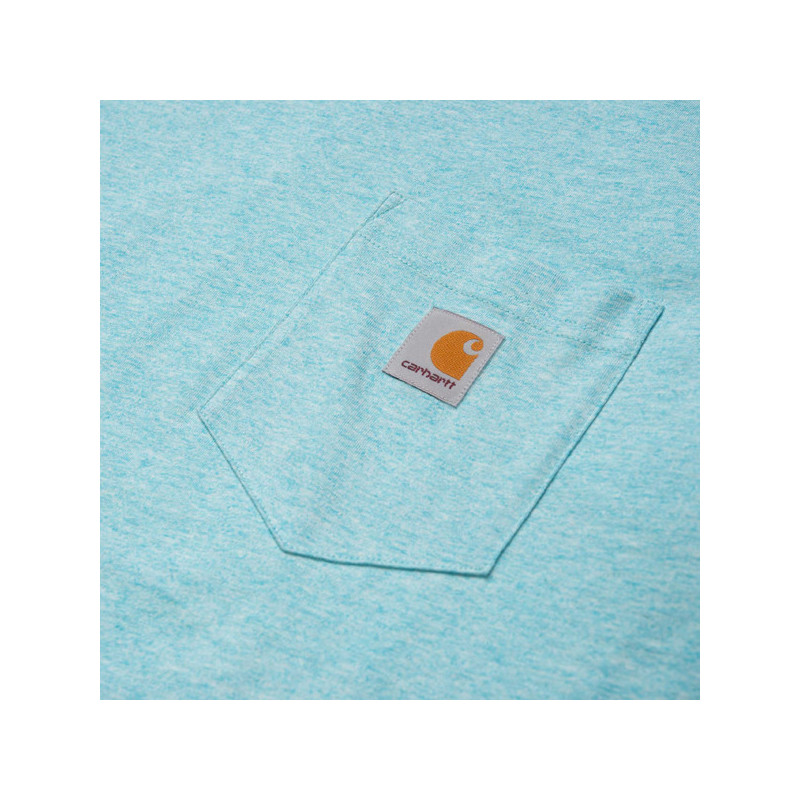 Camiseta Carhartt: SS POCKET T SHIRT (WINDOW HEATHER)