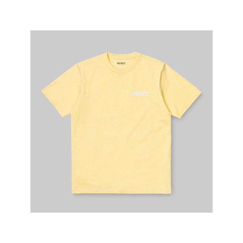 Camiseta Carhartt: SS COLLEGE SCRIPT T SHIRT (FRESCO WHITE)