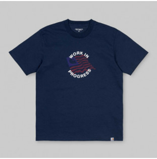 Camiseta Carhartt: SS US C T SHIRT (BLUE)