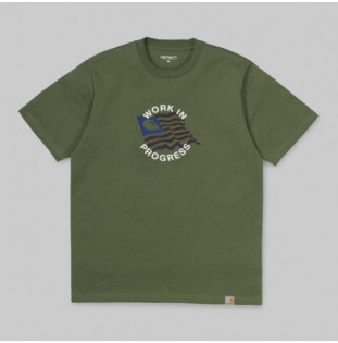 Camiseta Carhartt: SS US C T SHIRT (DOLLAR GREEN)
