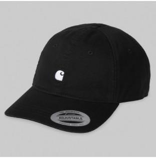 Gorra Carhartt: MADISON LOGO CAP (BLACK WAX)