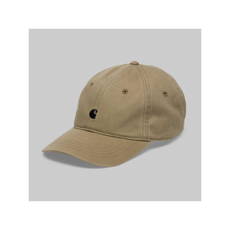 Gorra Carhartt: MADISON LOGO CAP (LEATHER DARK NAVY)