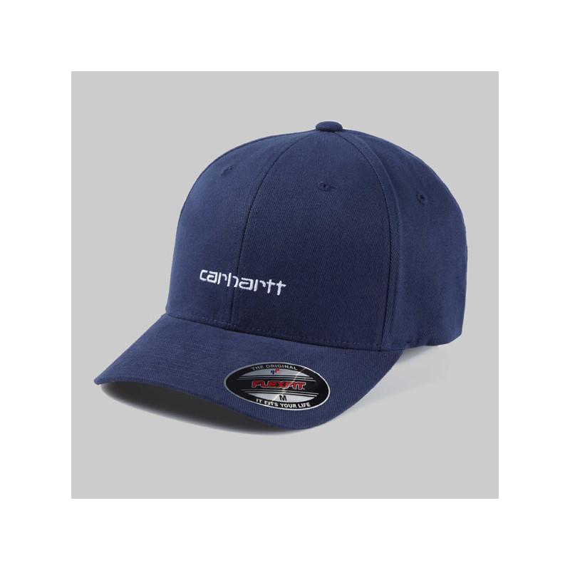 Gorra Carhartt: SCRIPT CAP (DARK NAVY WHITE)