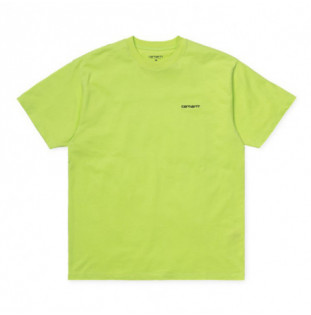 Camiseta Carhartt: SS SCRIPT EMBROIDERY T SHIRT (LIME BLACK)