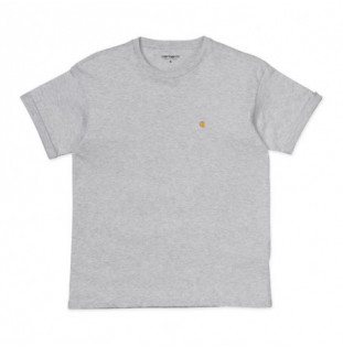 Camiseta Carhartt: W SS CHASY T SHIRT (ASH HEATHER GOLD)