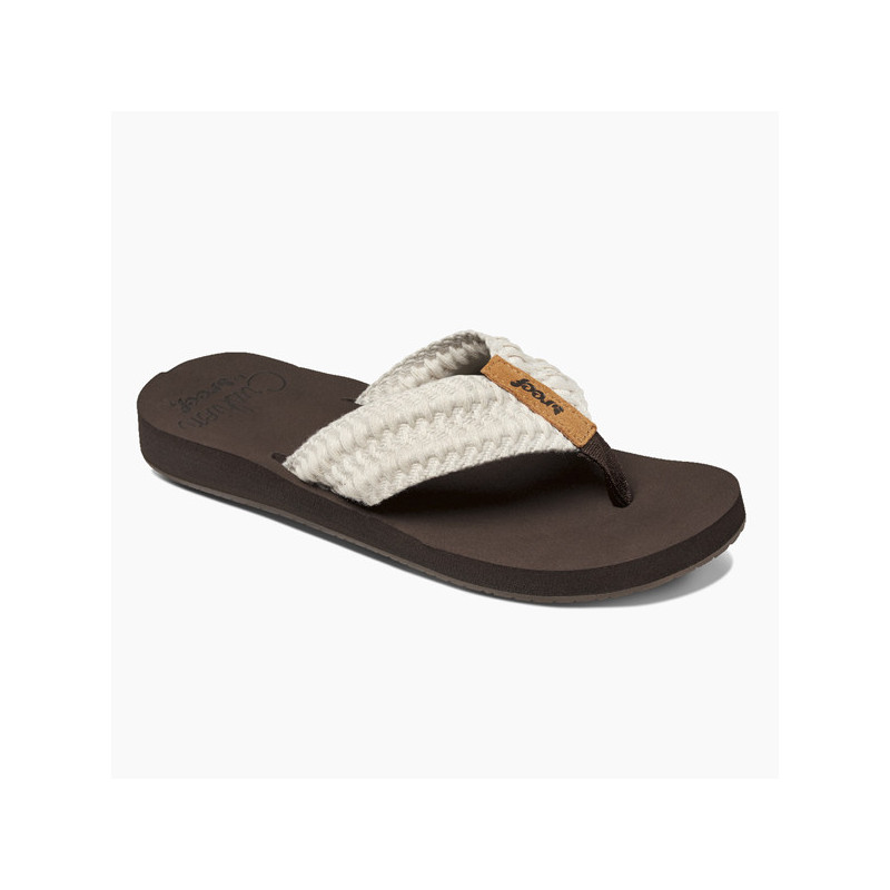 Chanclas Reef: W REEF CUSHION THREADS (Vintage White)