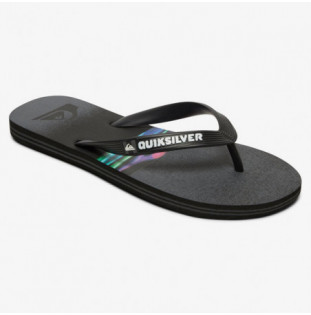 Chanclas Quiksilver: MOLOKAI HOLD DOWN (BLACK GREY BLACK) Quiksilver - 1