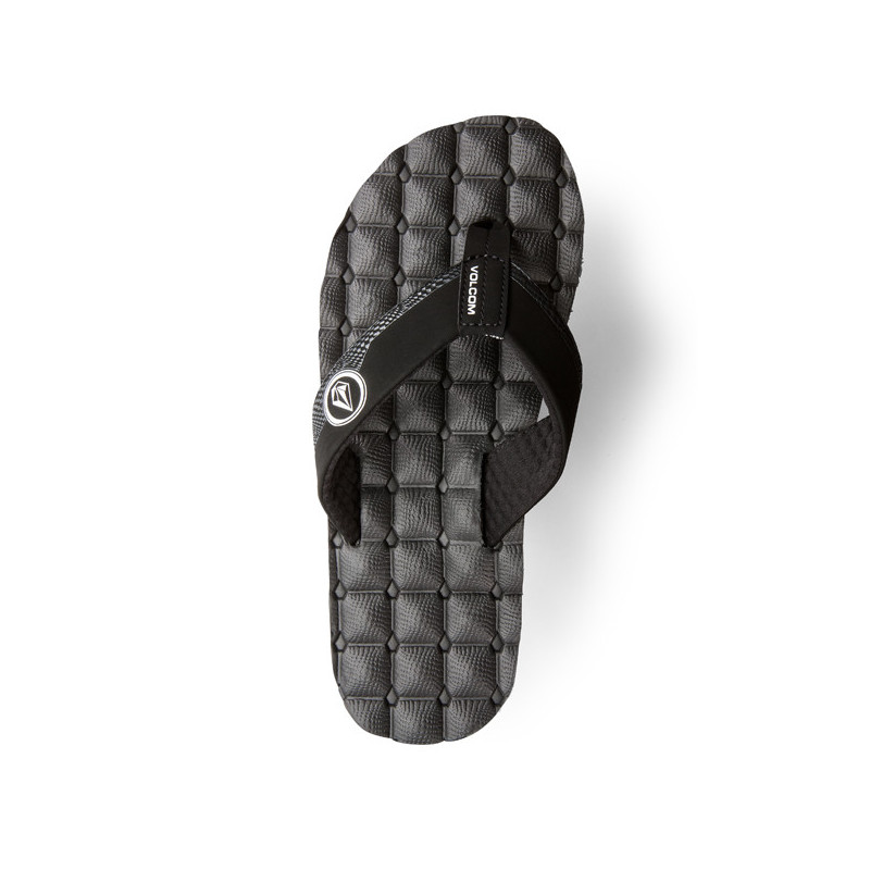 Chanclas Volcom: RECLINER SNDL (BLACK WHITE)