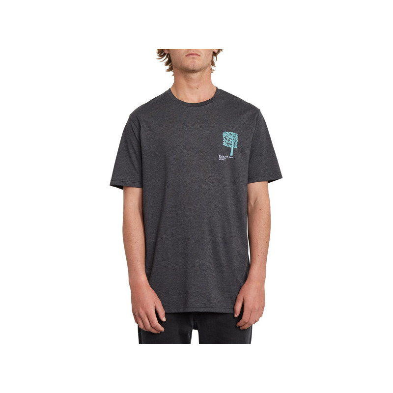 Camiseta Volcom: GROWN HTH SS (HEATHER BLACK)