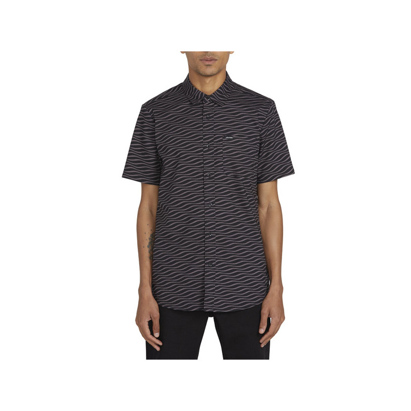 Camisa Volcom: LEVSTONE VIBES SS (DARK CHARCOAL)