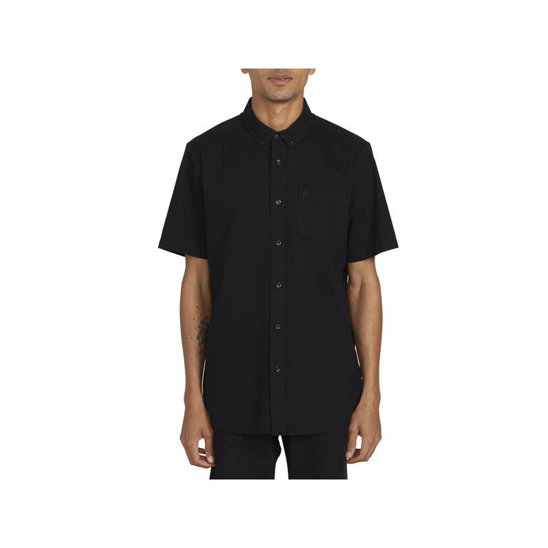 Camisa Volcom: EVERETT OXFORD SS (NEW BLACK)