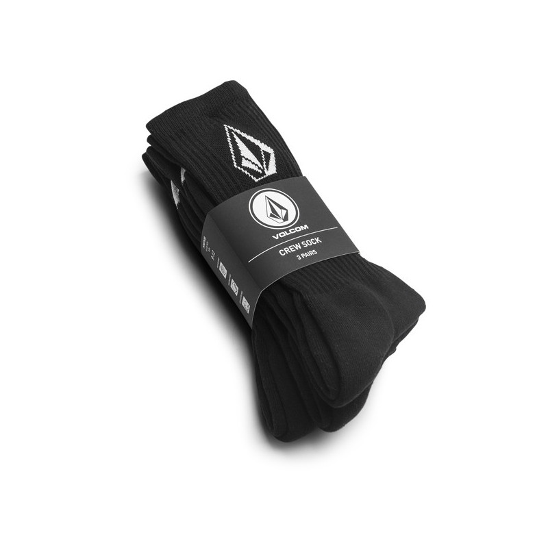 Calcetines Volcom: FULL STONE SOCK 3PK (BLACK)