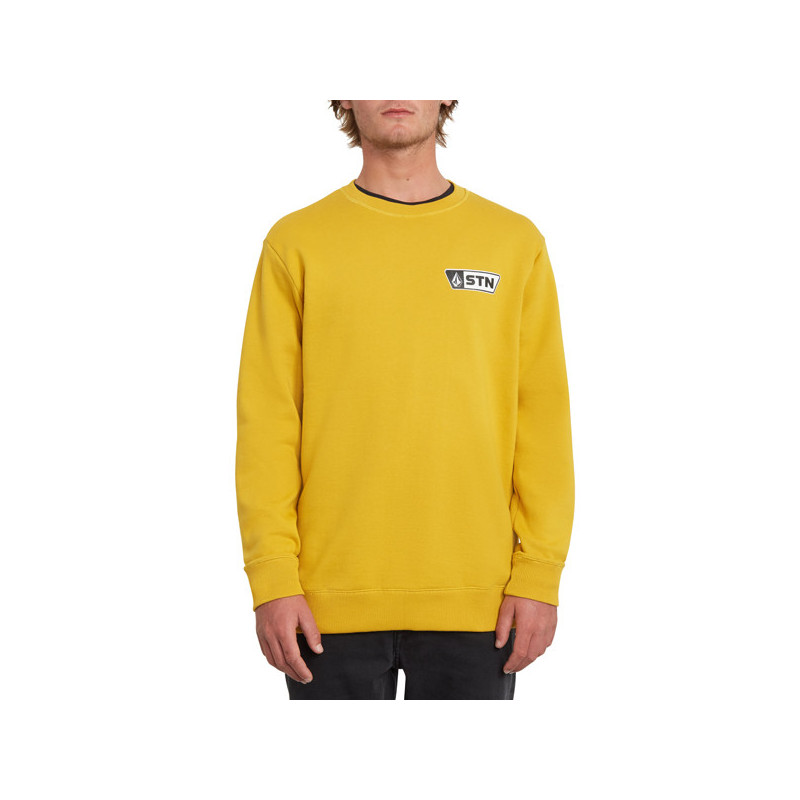 Sudadera Volcom: SUPPLY STONE CREW (GOLD)
