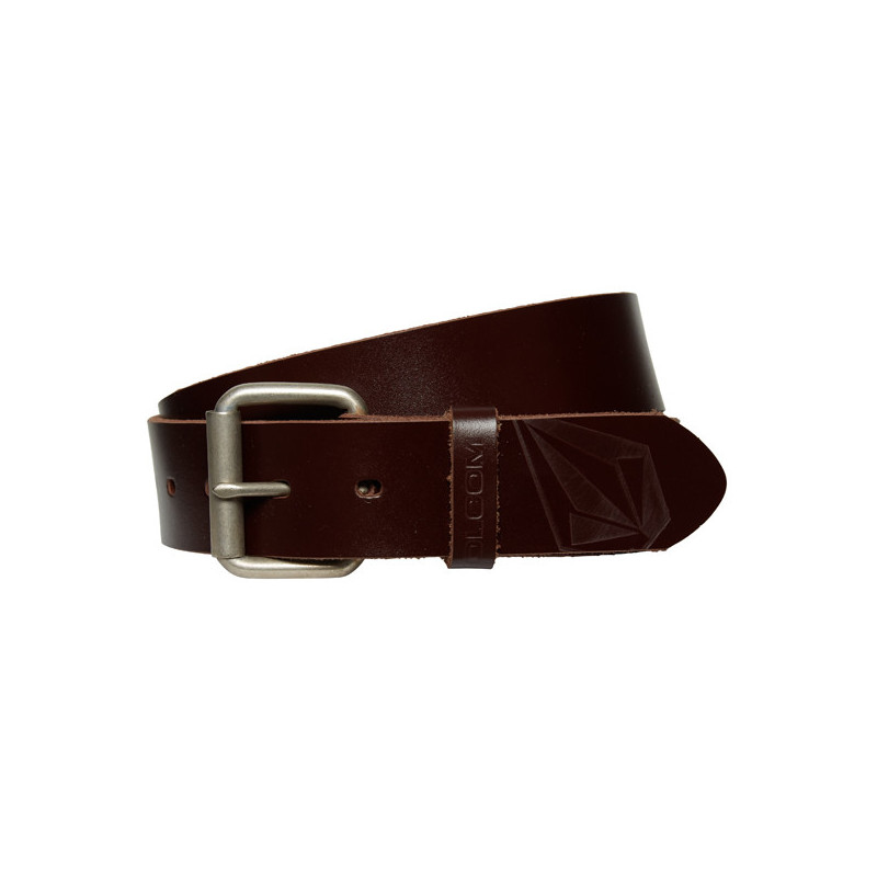 Cinturón Volcom: STRAIGHT LTH BELT (BROWN)